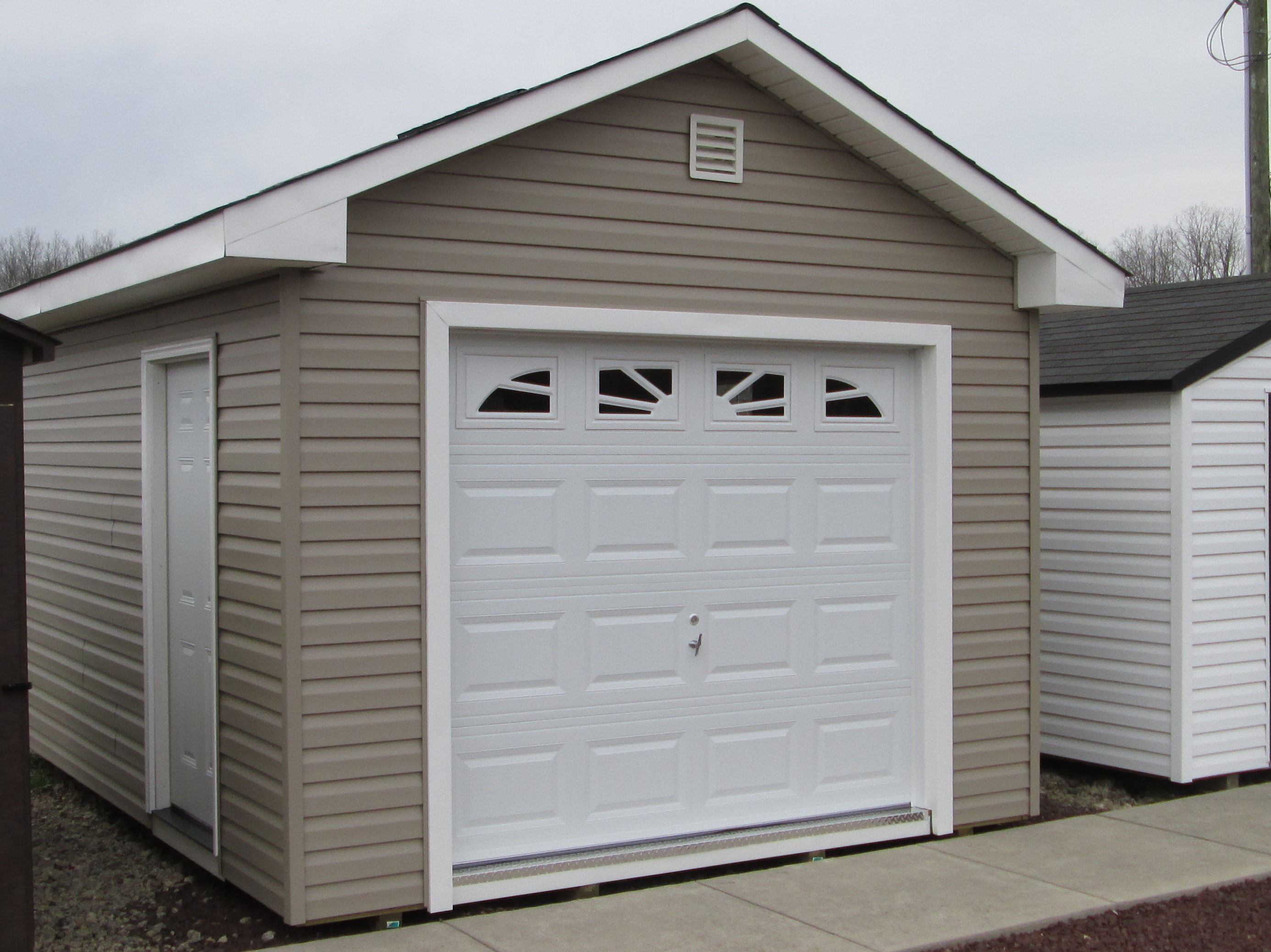 Garages american sheds for Shed with garage door