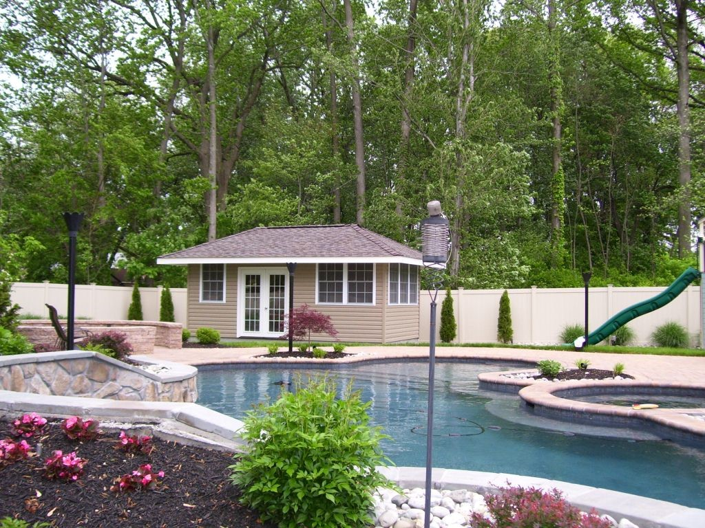 Pool house 15 american sheds for Pool and pool house