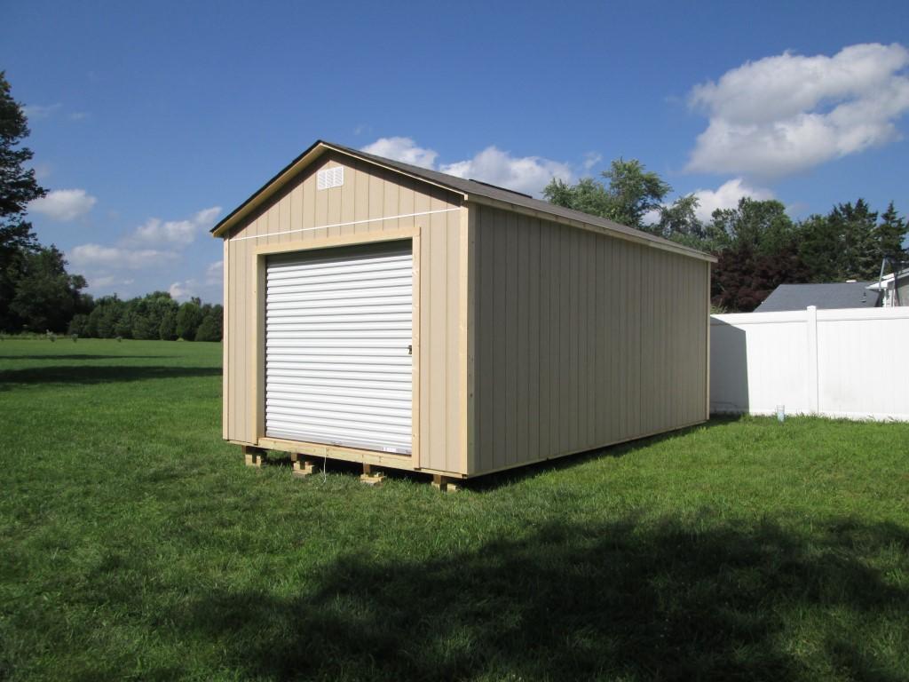 Wood garage american sheds for Garage sheds